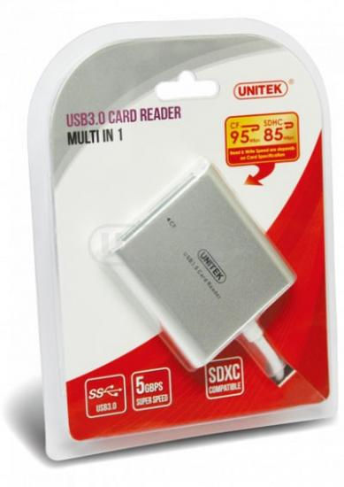CZYTNIK KART PAMIĘCI ALL-IN-ONE USB 3.0; Y-9313