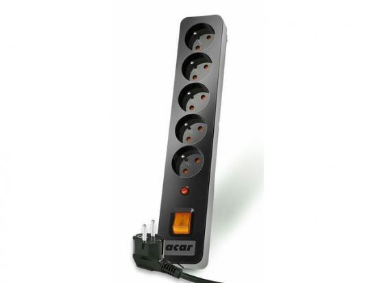 Listwa przeciwprzepięciowa ACAR X5 3m czarna