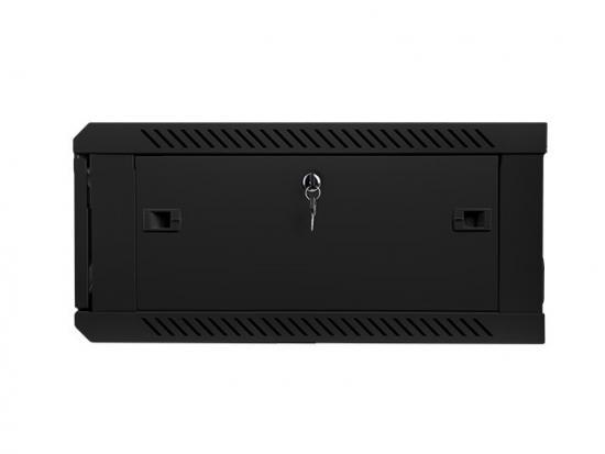 Szafa instalacyjna wisząca 19'' 4U 600X600mm czarna (drzwi szklane)