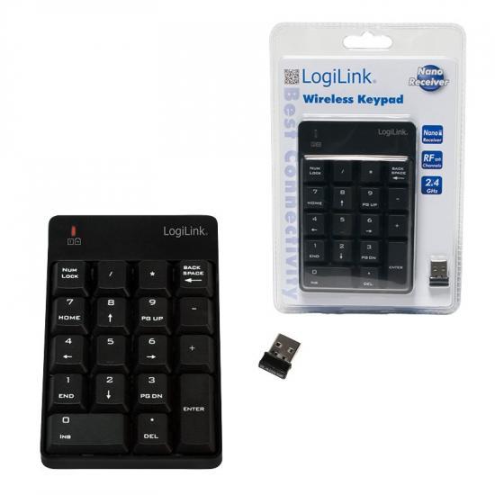 LogiLink Bezprzewodowa klawiatura numeryczna, 18 klawiszy