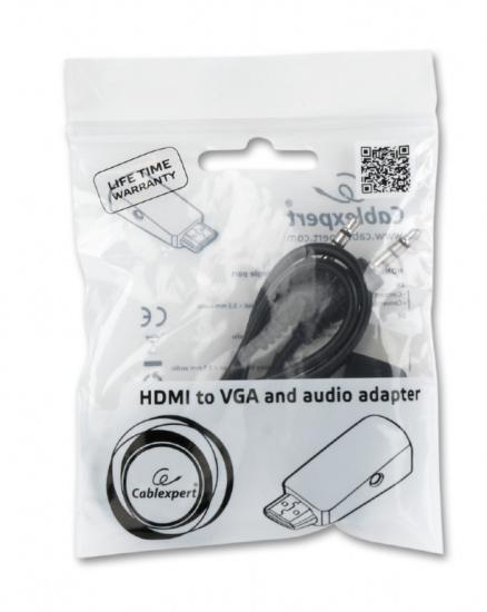 Adapter HDMI-A(M)->VGA(F)+Audio