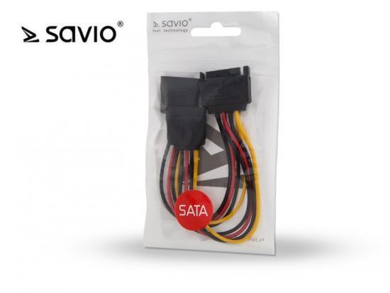 SAVIO AK-17 Kabel zasilający/ adapter SATA 15pin M - 2xSATA 15pin F