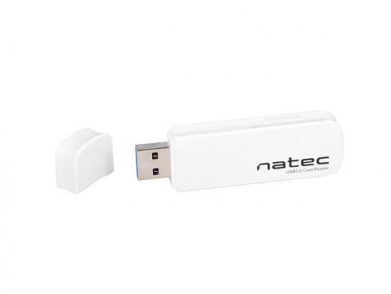 Czytnik kart pamięci Natec SCARAB SD/Micro SD USB 3.0 biały