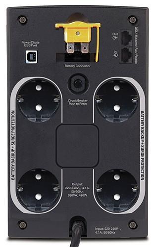 BX950U-GR BACK X 950VA/480W/ AVR/4xGR/USB