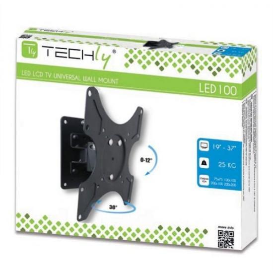 Uchwyt ścienny LCD/LED 13-37cali slim, 25kg, czarny
