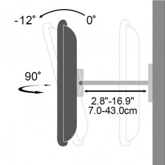 Uchwyt ścienny LCD/LED 23-55cali regulowany 70kg, czarny