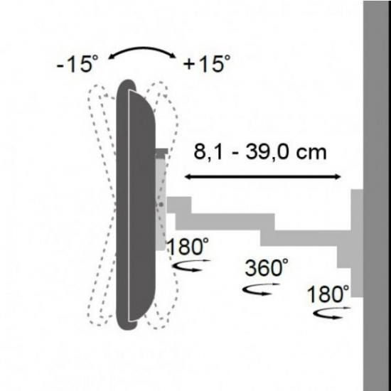 Uchwyt ścienny LCD/LED 13-30 cali podwójne ramię, czarny