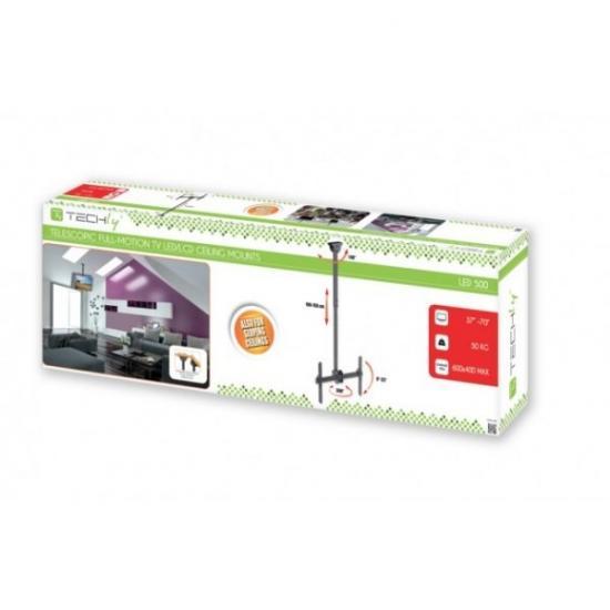 Uchwyt sufitowy LCD/LED 37-70cali czarny 50kg