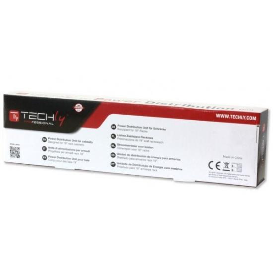 Listwa zasilająca Rack 19 cali do UPS 12 gniazd, 2m czarna, 250V/16A