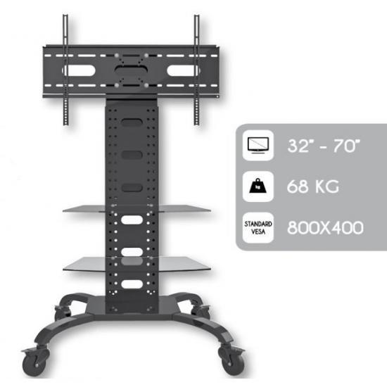 Stojak mobilny LCD/LED 32-70cali 2 półki