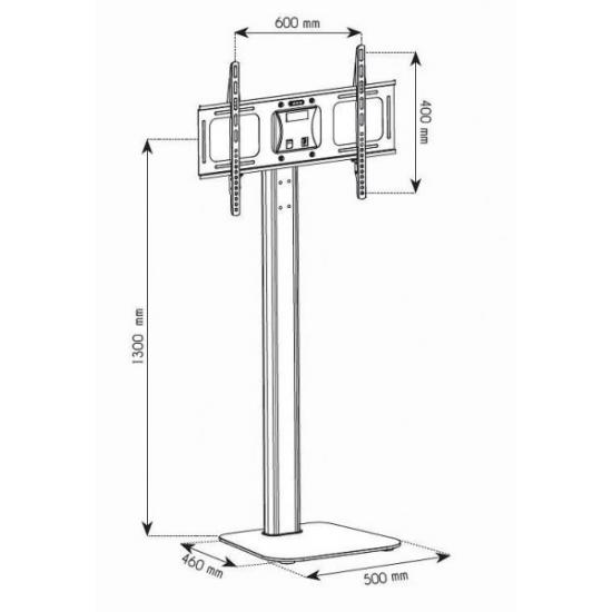 Stojak podłogowy LCD/LED 32-70cali, regulowany