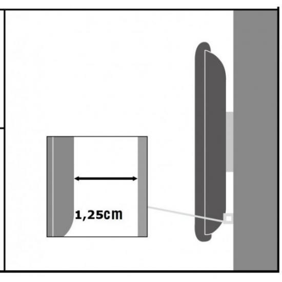 Uchwyt ścienny LCD/LED 13-37cali 35kg slim czarny