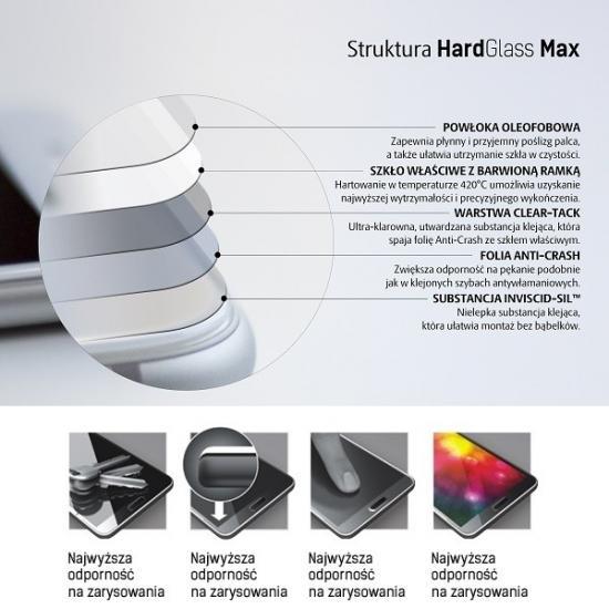 HardGlass MAX iPhone 8 biały szkło hartowane fullscreen 9h