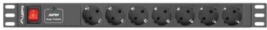 Listwa zasilajaca Rack PDU 1U 7x Schuko 2m 16A czarna