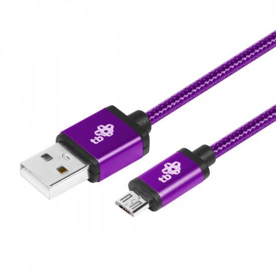 Kabel USB-Micro USB 1.5 m fioletowy sznurek