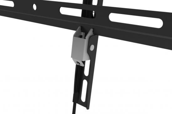 Uchwyt ścienny pojedynczy, 1xLCD, max. 55, max. obciążenie 35kg, uchylny, poziomnica