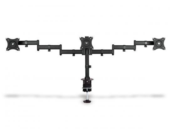 Stojak biurkowy potrójny z zaciskiem, 3xLCD, max. 27, max. obciążenie 8kg, uchylno-obrotowy 360