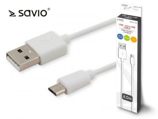 Kabel USB - micro USB 2.1A, 2m SAVIO CL-124