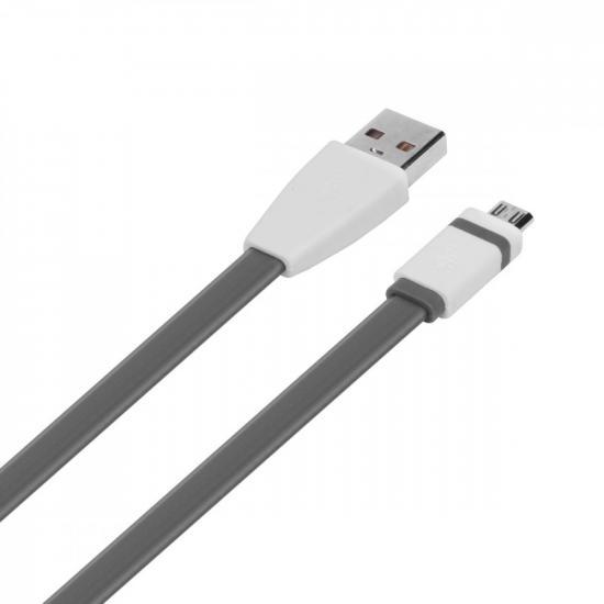 Kabel USB-Micro USB 1m szary