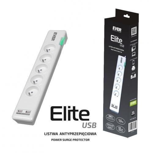 Listwa antyprzepięciowa ELITE USB