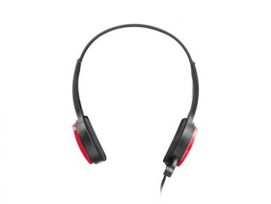 Słuchawki nauszne USL-1222 z mikrofonem czerwone