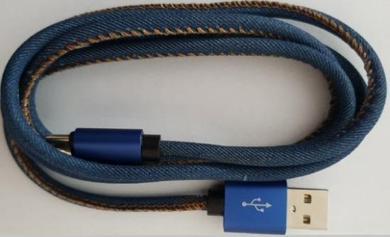 Kabel USB 2.0 Type C premium jeans 2 m