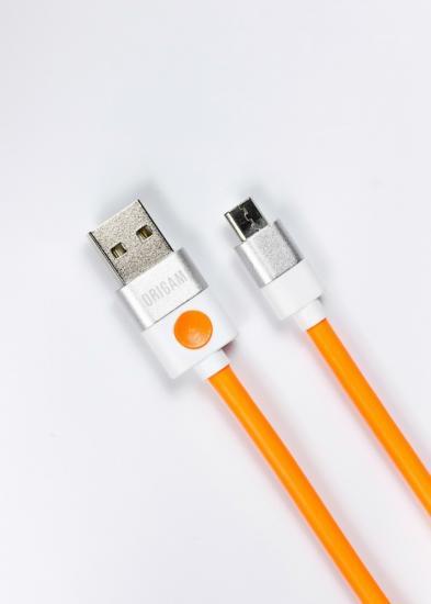 Kabel USB do Micro USB Origami 1m pomarańczowy