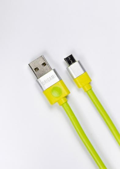 Kabel USB do Micro USB Origami 2m zielony