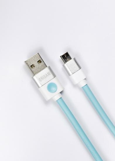 Kabel USB do Micro USB Origami 3m niebieski