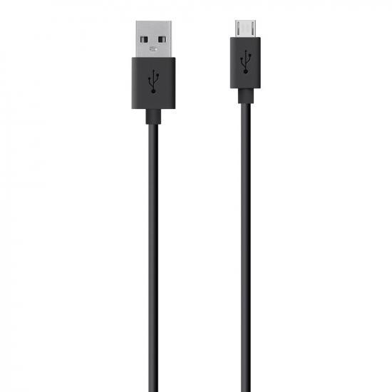 Kabel USB-A - microUSB 2m czarny