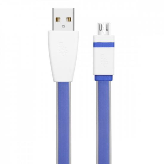 Kabel USB-Micro USB 2m. niebieski