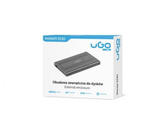 Kieszeń zewnętrzna Marapi S130 SATA 2.5cala USB3.0 aluminium, czarna