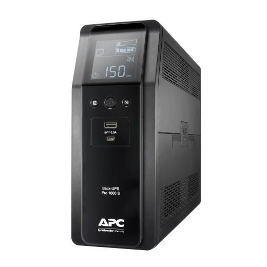 BR1600SI UPS Back ProBR1600VA/960W 6xC13, AVR,LCD, Ładowarka USB A/C Czysta sinusoida przy pracy bateryjnej