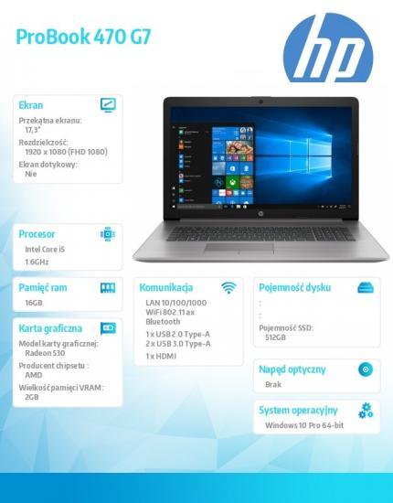 Notebook 470 G7 i5-10210U 512/16/W10P/17.3 8VU31EA
