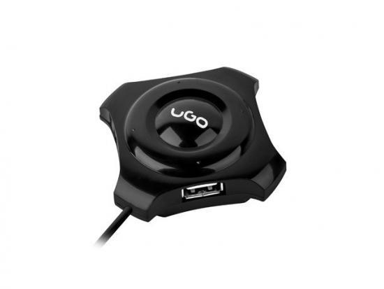 Hub USB 2.0 Maipo HU50 4-Porty + port DC 3.5 Czarny