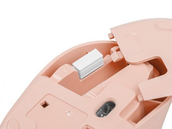 Mysz bezprzewodowa Pico MW100 1600DPI Różowa
