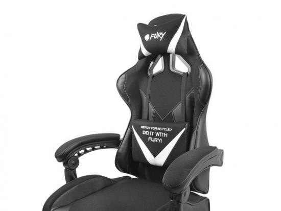 Fotel dla graczy Fury Avenger L Czarno-biały