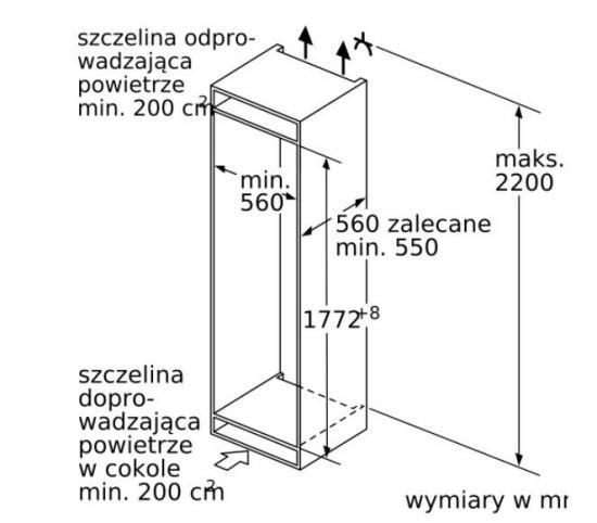 Chłodziarko-zamrażarka KIL82AFF0