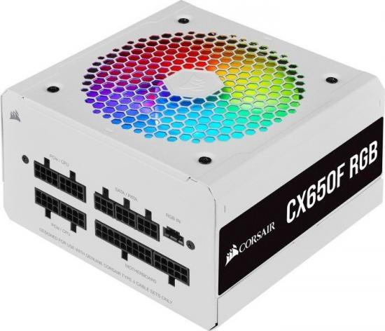 Zasilacz CX650F Biały RGB 80+ BRONZE F.MODULAR EU