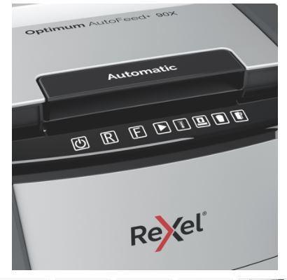 Niszczarka Optimum AutoFeed+ 90X, 90 kartek, P-4, kosz 34l