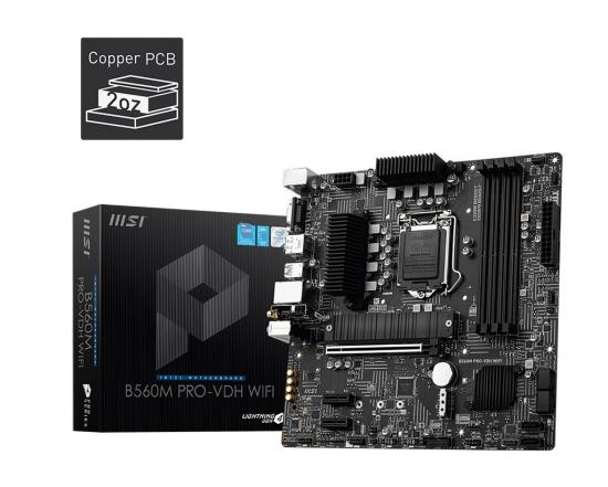 Płyta główna B560M PRO-VDH WIFI s1200 4DDR4 HDMI/DP M.2 mATX