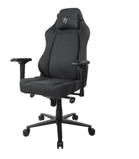 Fotel dla graczy Primo Woven Tkanina Czarny/Szary