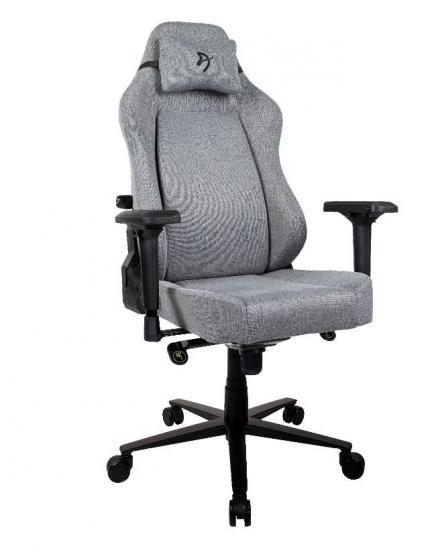 Fotel dla graczy Primo Tkanina Szary