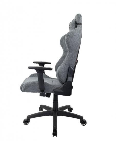 Fotel dla graczy Torretta Delikatna Tkanina Popielaty