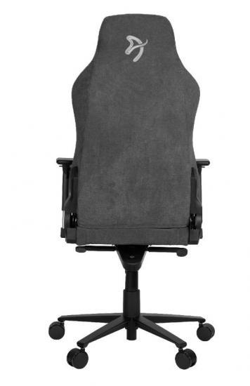 Fotel dla graczy Vernazza Delikatna Tkanina Ciemnoszary