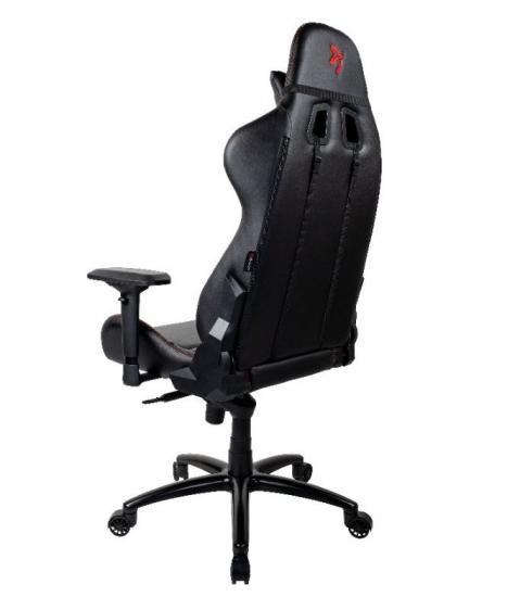 Fotel dla graczy Verona Signature PU Czarny Czerwone Logo