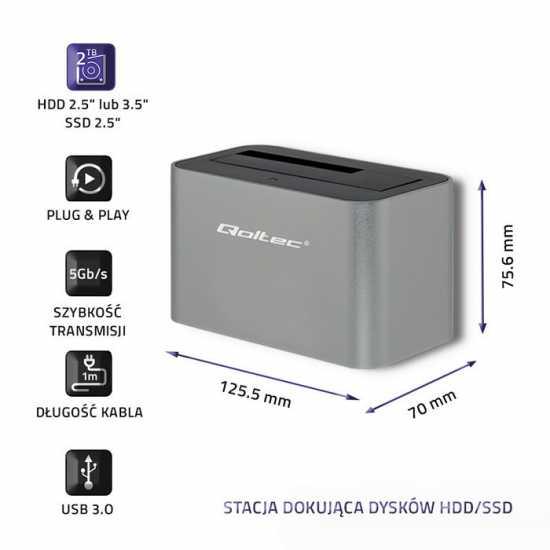 Stacja dokująca dysków HDD/SSD | 2.5